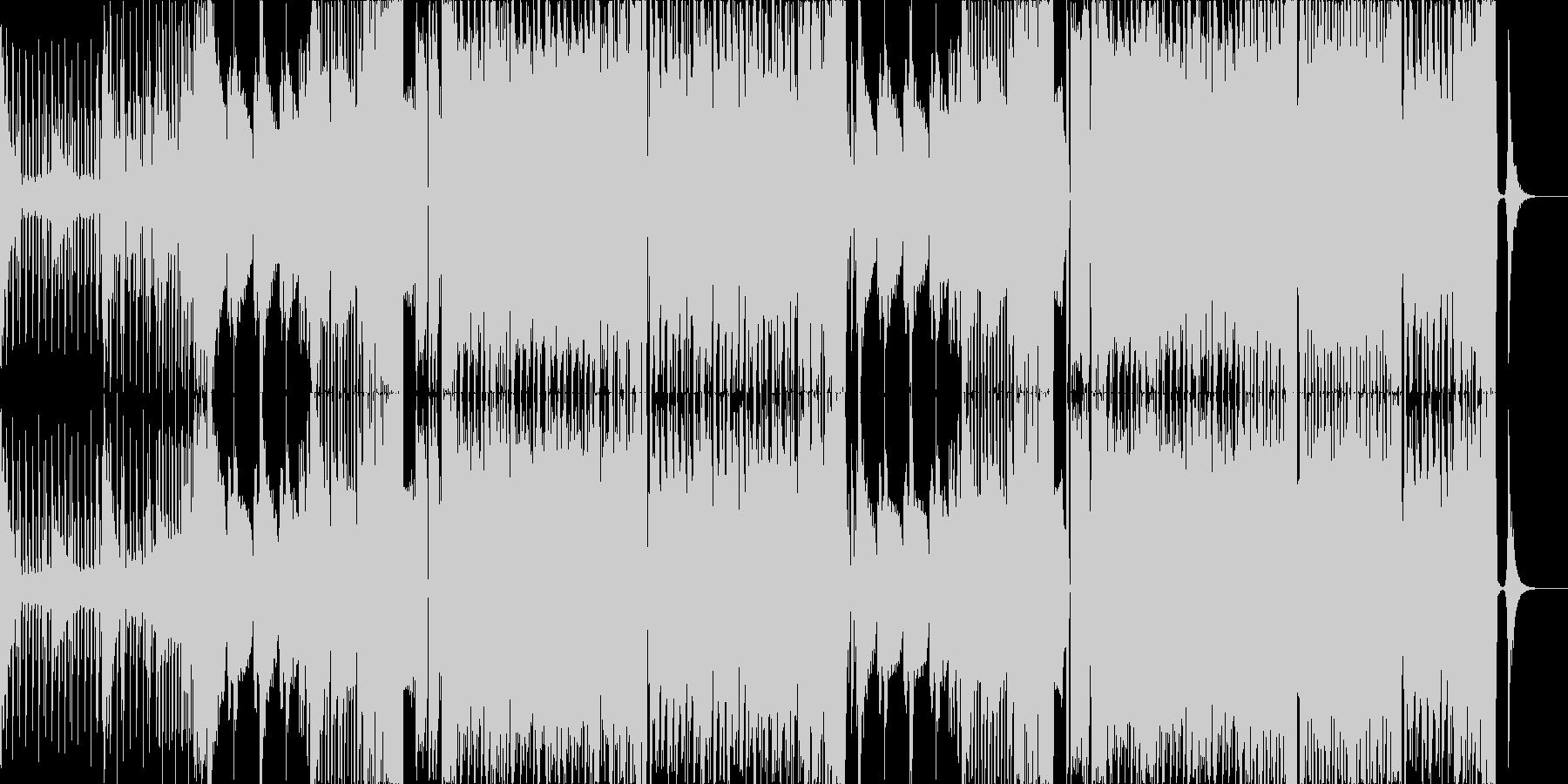 暗い雰囲気のベースミュージックの未再生の波形