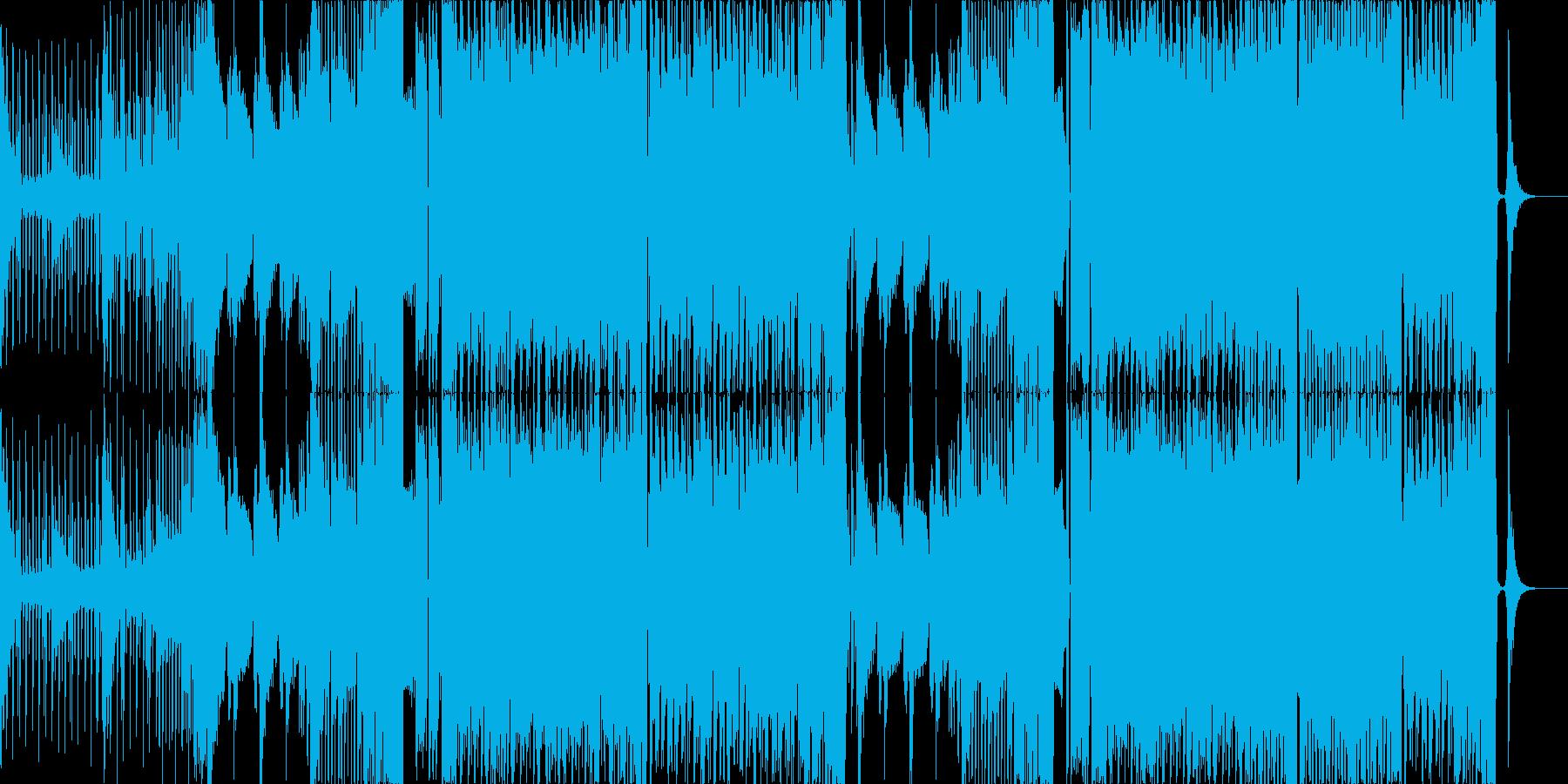 暗い雰囲気のベースミュージックの再生済みの波形