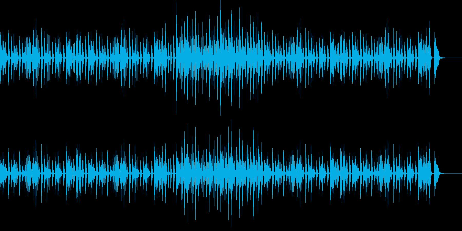 CMや映像、レトロなピアノ、ラグタイムの再生済みの波形