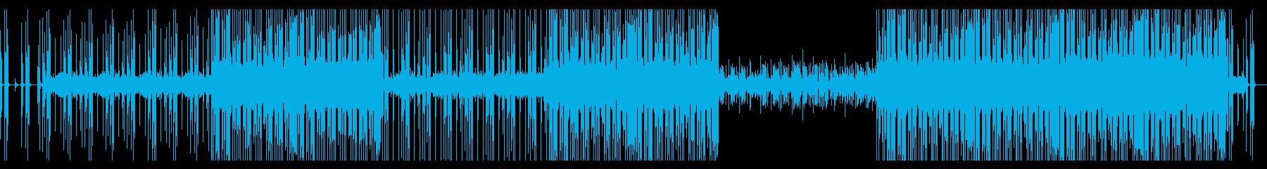軽快なポップジャズフュージョンの再生済みの波形