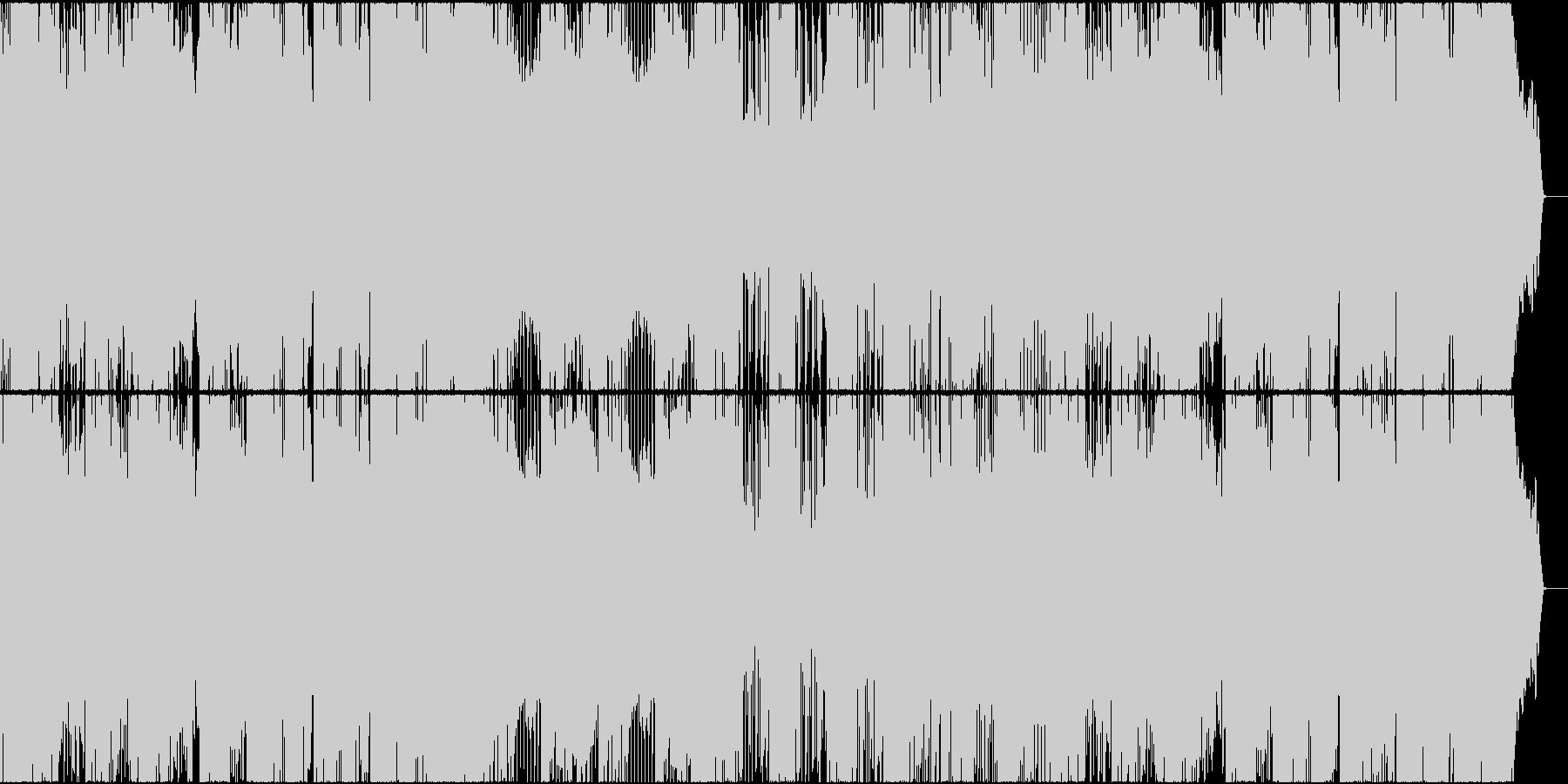 ダブステップ アクション スピード感の未再生の波形