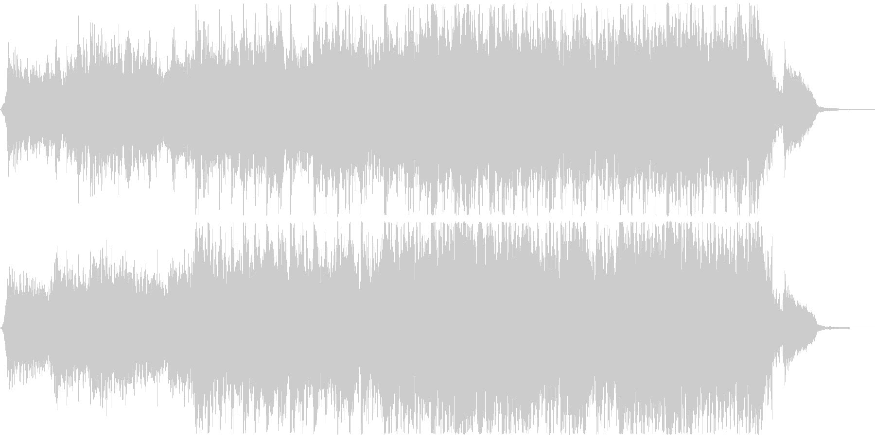 月光のようなピアノのシネマティック60秒の未再生の波形