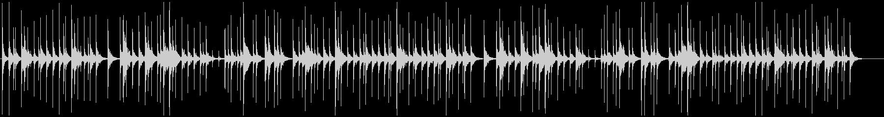 生の津軽三味線のバラード系民謡独奏の未再生の波形