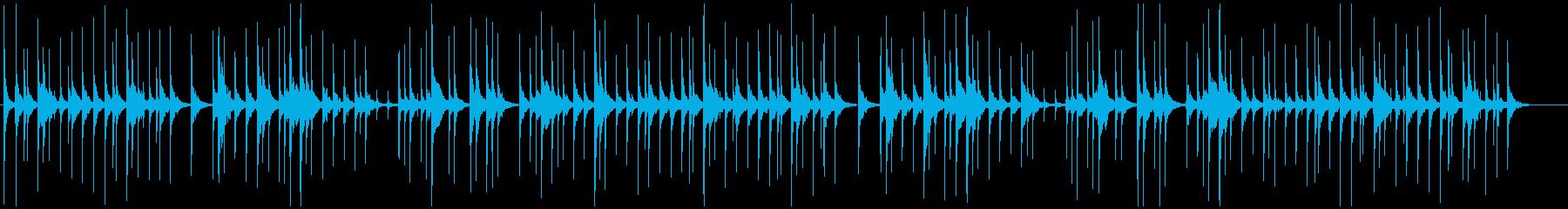 生の津軽三味線のバラード系民謡独奏の再生済みの波形