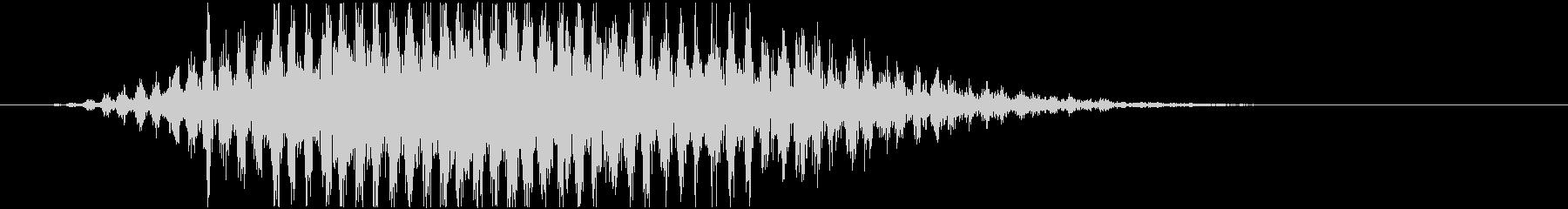 トランジション ヒューシュフラッター28の未再生の波形