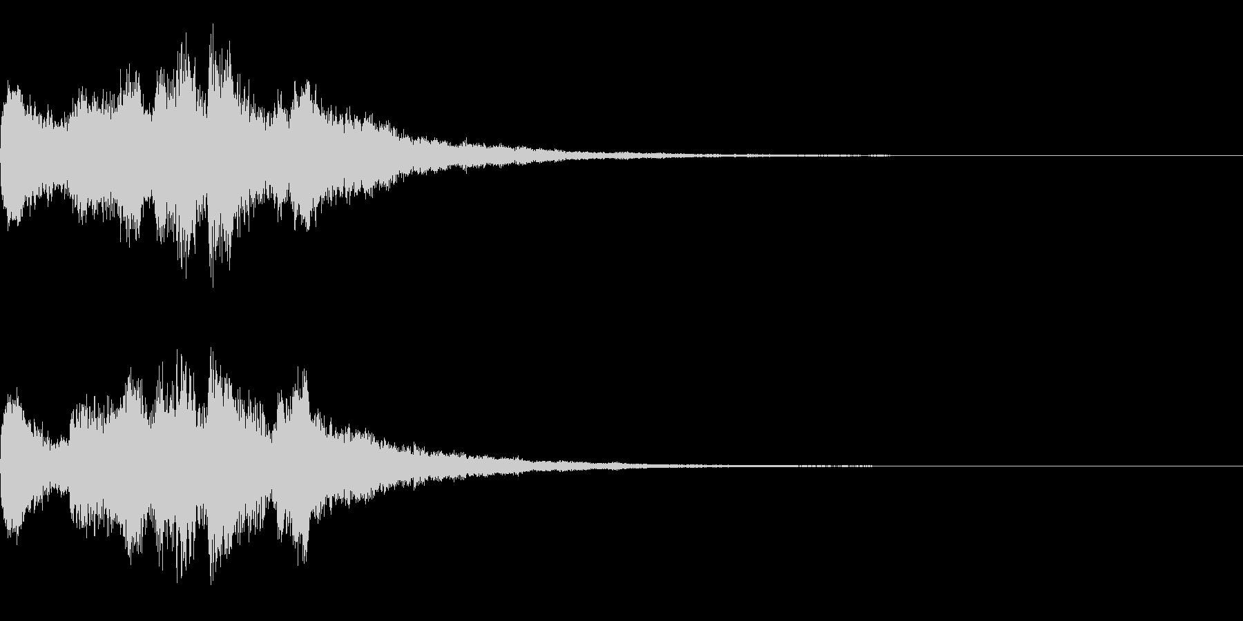 ゲームオーバー(明るい調子)の未再生の波形