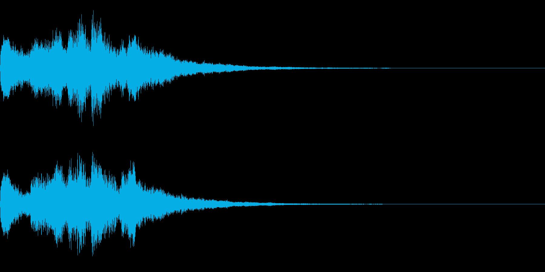 ゲームオーバー(明るい調子)の再生済みの波形