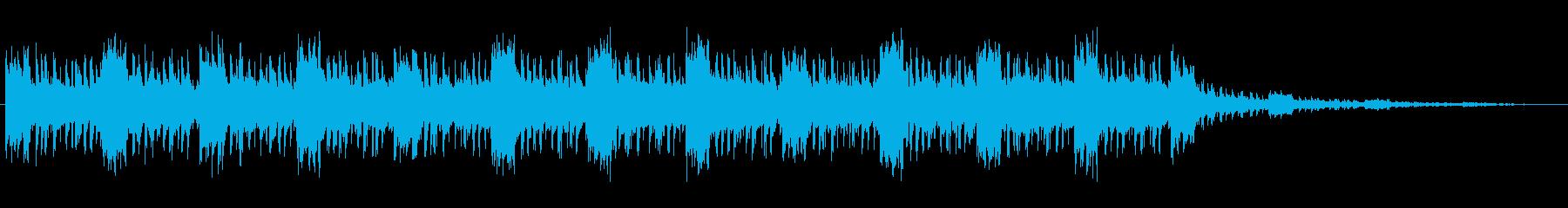 歪んだシンセが印象的なテクノの再生済みの波形