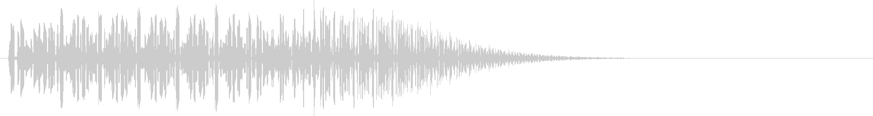 ビコッ(決定音)の未再生の波形
