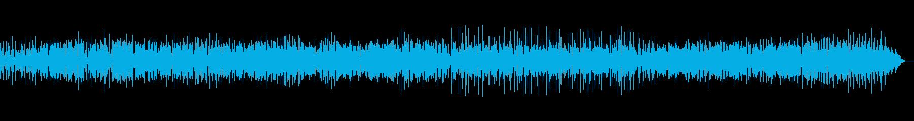 サックスの明るく軽快なボサノバジャズの再生済みの波形