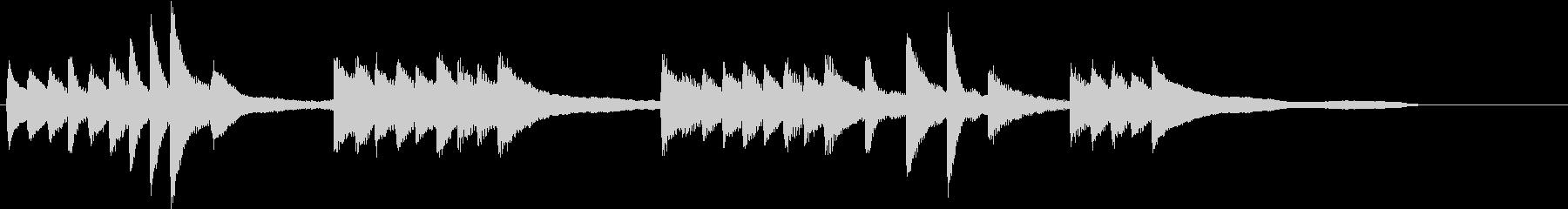 シンプルな和音の爽やか冬のピアノジングルの未再生の波形
