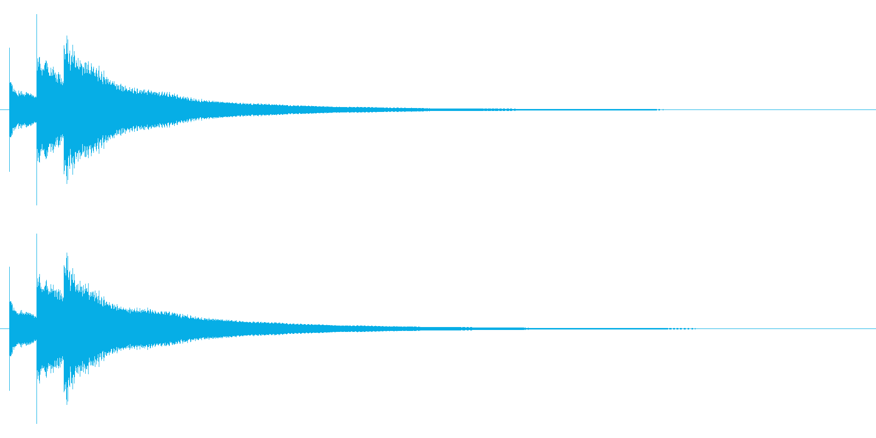 チロリーンの再生済みの波形