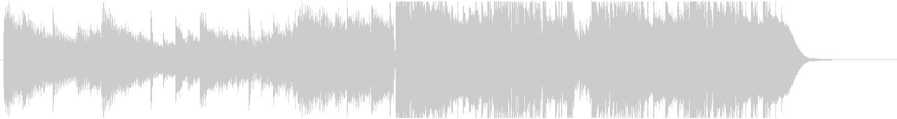 幻想的なフューチャーベースジングル18秒の未再生の波形