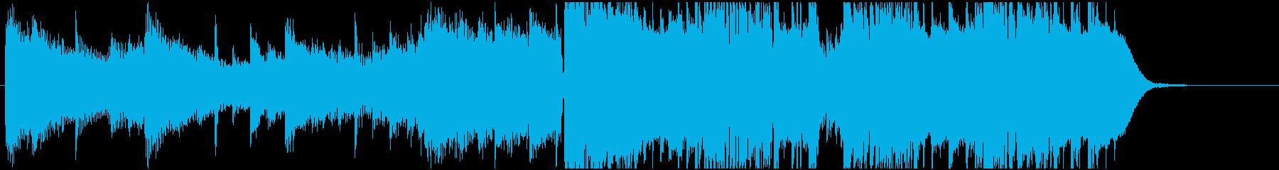 幻想的なフューチャーベースジングル18秒の再生済みの波形