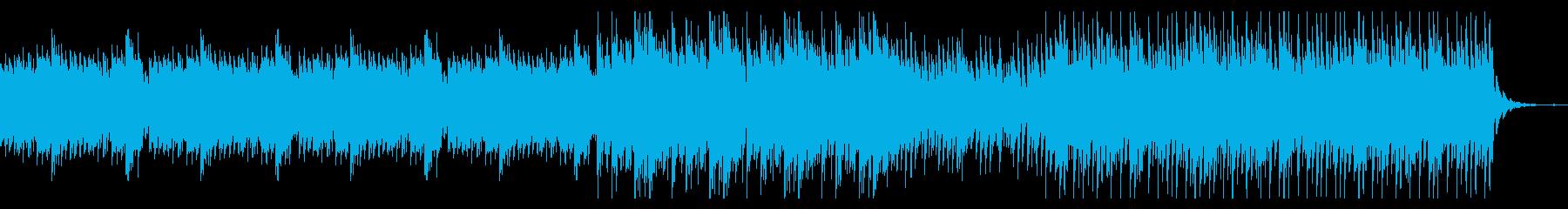 爽やかなピアノディレイの曲の再生済みの波形