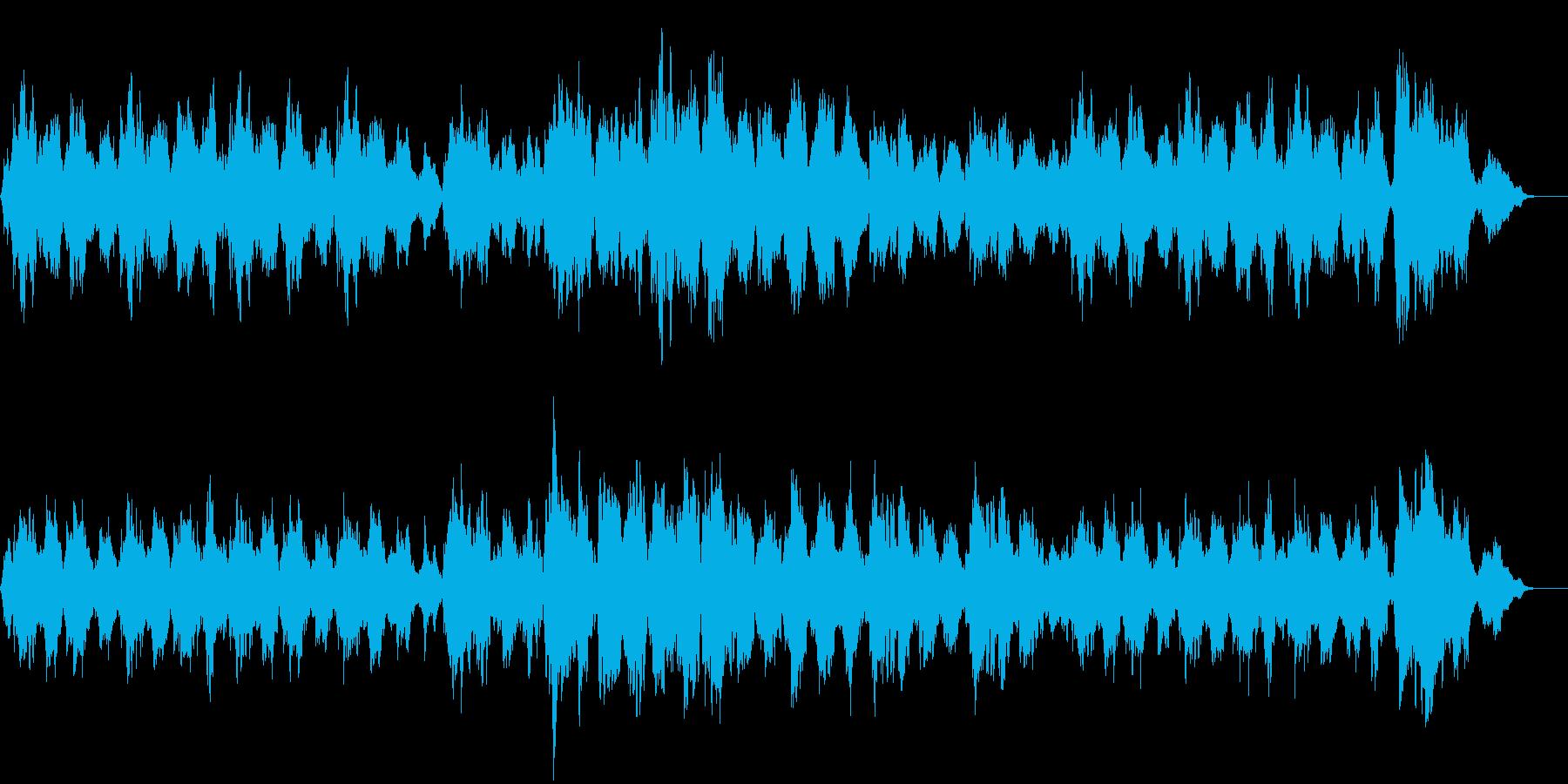緩やかな憂いのある映画音楽的な曲ですの再生済みの波形