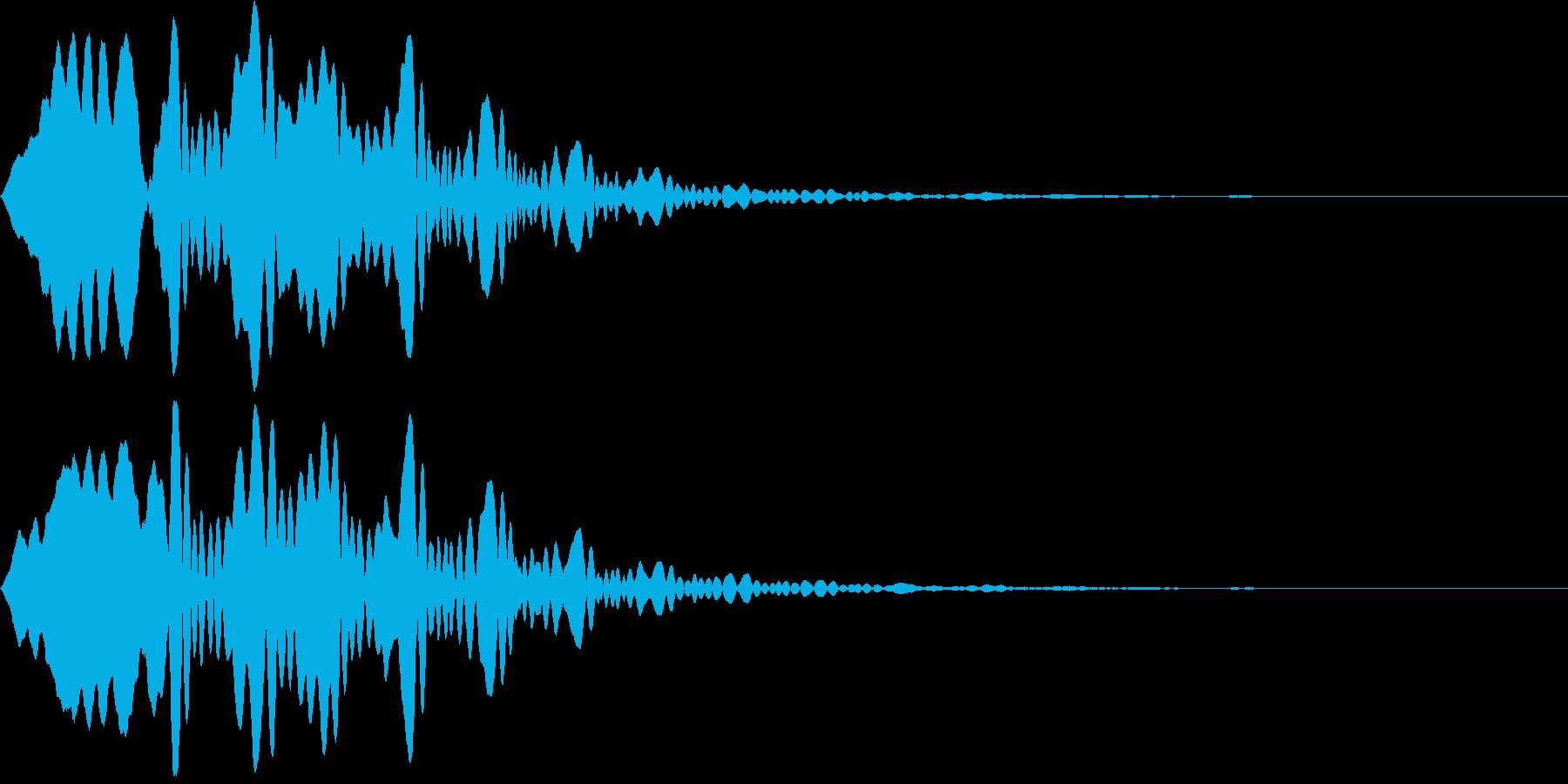 幽霊出現(ヒュウ~ン)の再生済みの波形