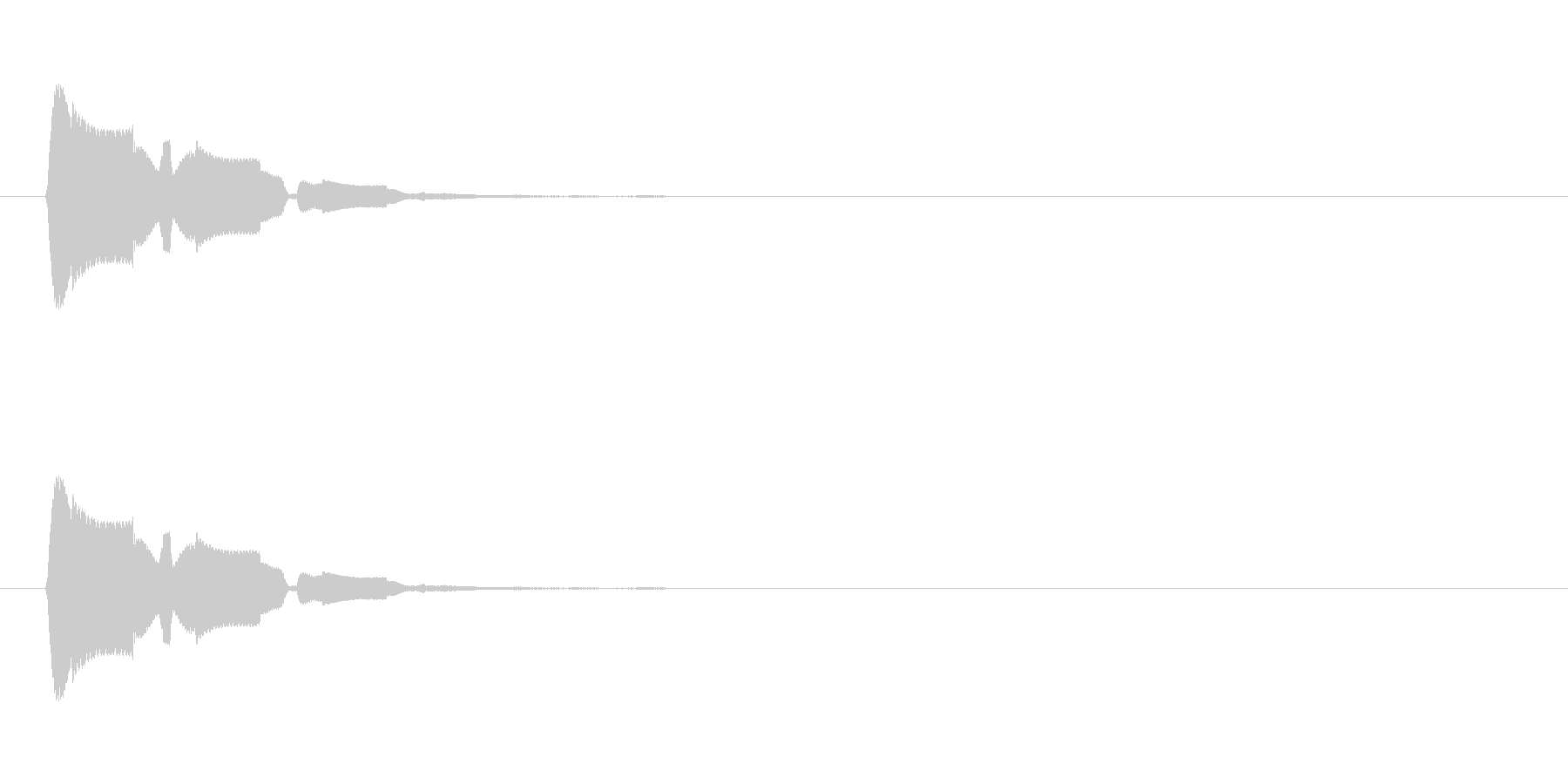 レトロな機械音の未再生の波形
