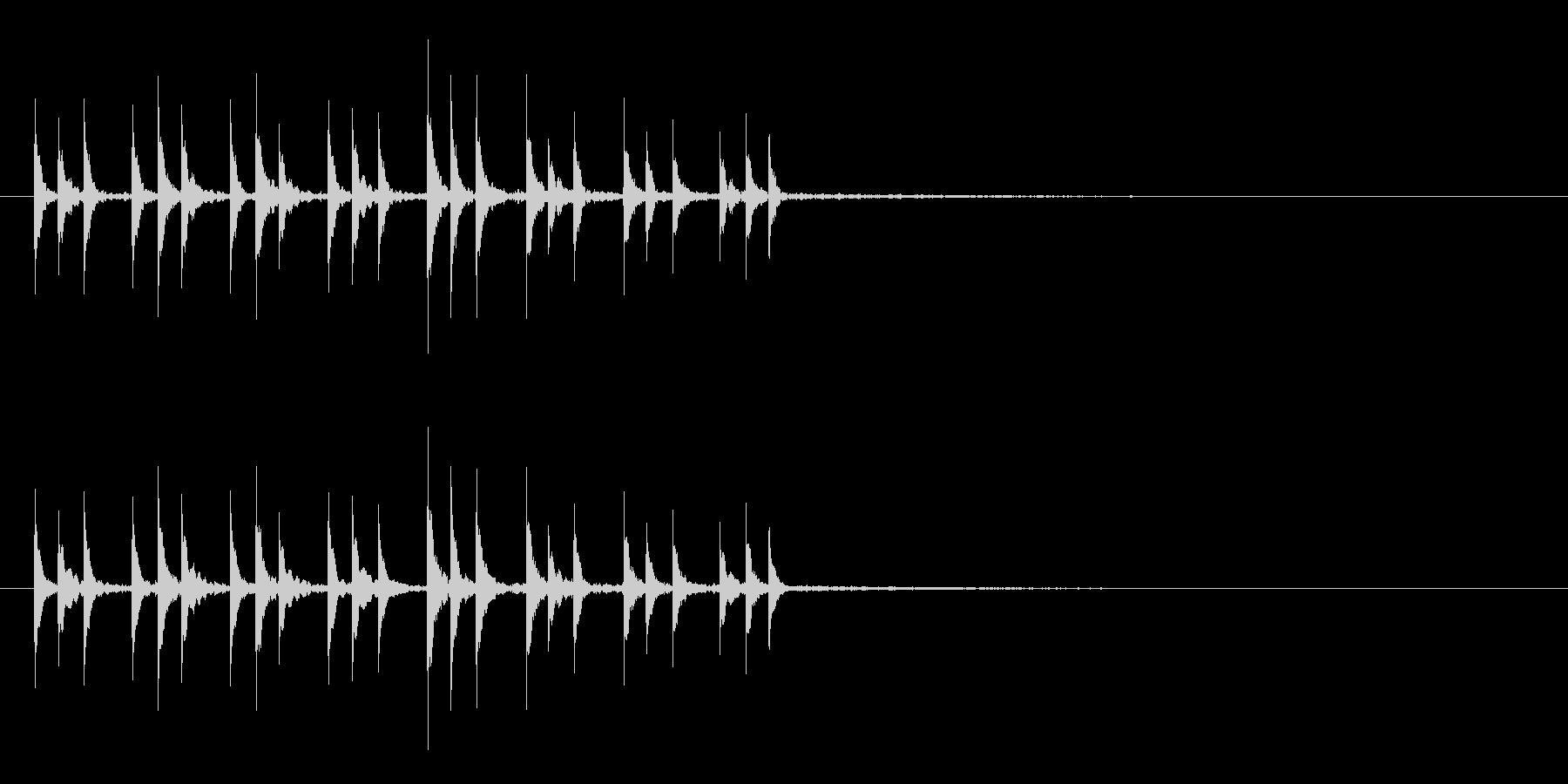 打楽器で作った~ぱからんぱからん~の未再生の波形