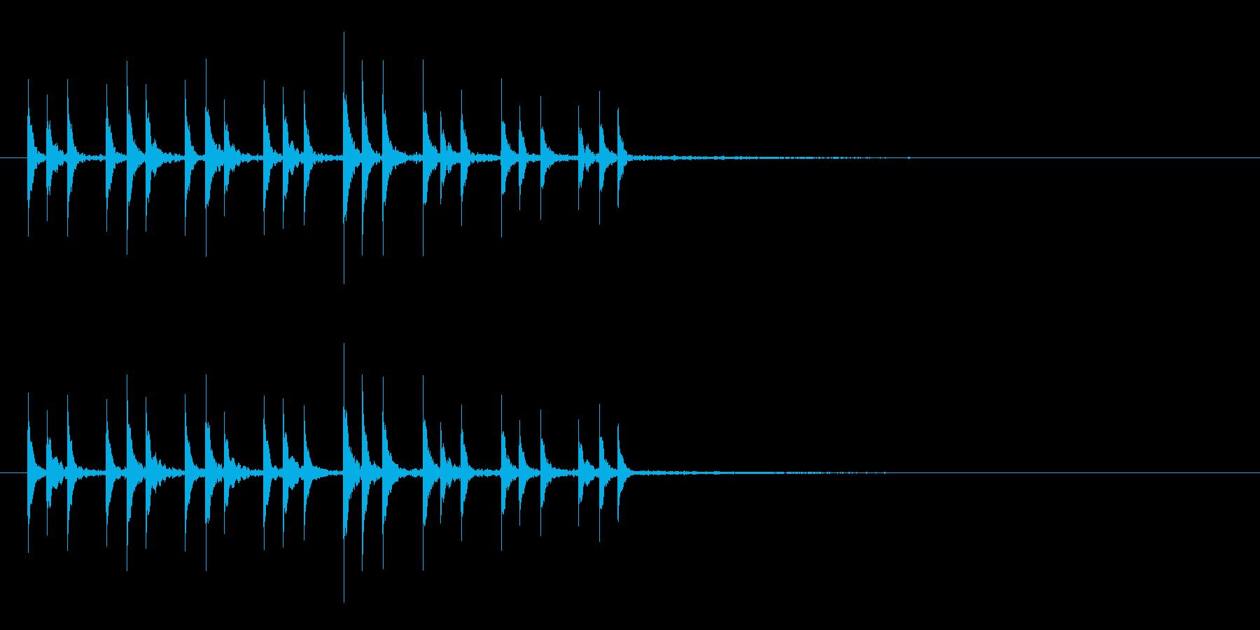 打楽器で作った~ぱからんぱからん~の再生済みの波形