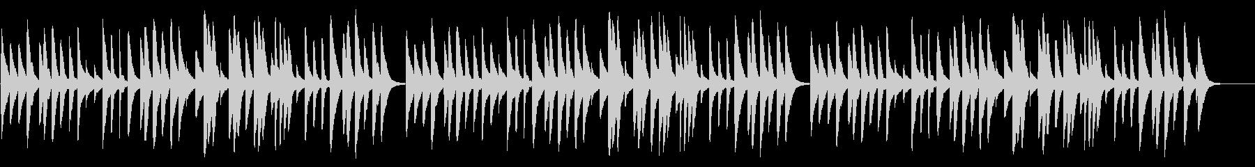 ふるさと 18弁オルゴールの未再生の波形