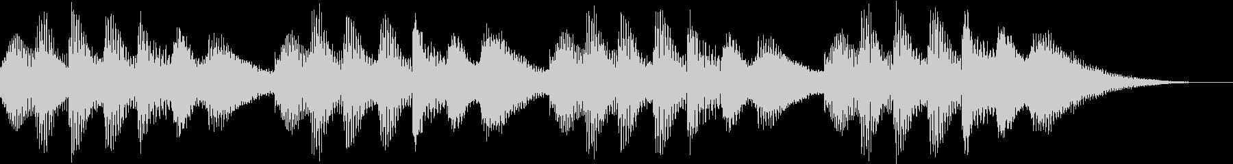 ほのぼのした着信音の未再生の波形