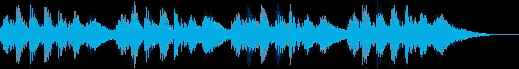 ほのぼのした着信音の再生済みの波形
