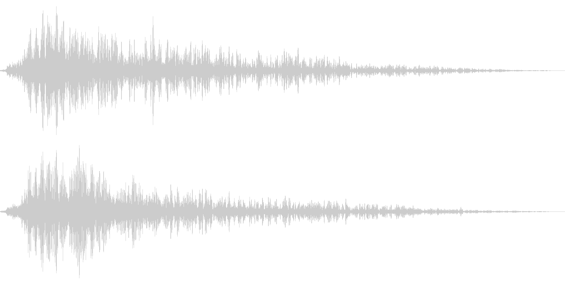 場面転換音・スタート音の未再生の波形