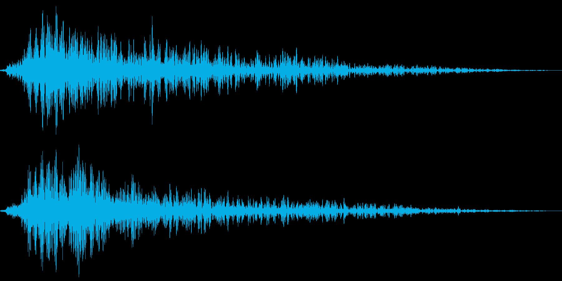 場面転換音・スタート音の再生済みの波形