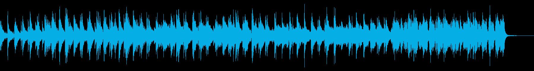 シンプルでゆったりしたジャズ風の再生済みの波形