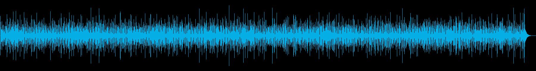 軽快で明るいヨーロッパ風アコーディオンの再生済みの波形