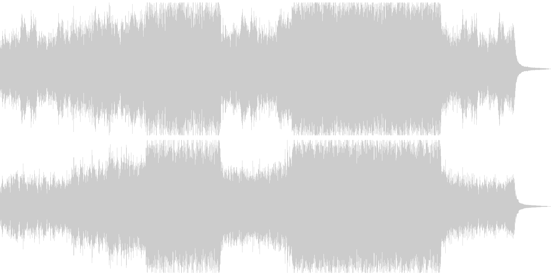 ピアノとオーケストラ行進曲風 エスニックの未再生の波形