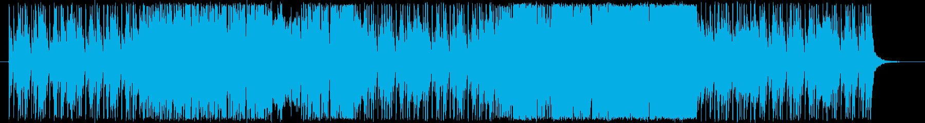 リズム感が溢れ出す軽快なファンキーロックの再生済みの波形