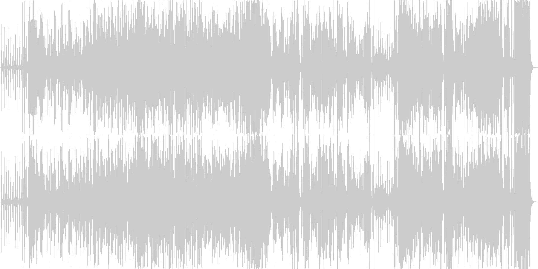 スローテンポでクラリネット入りのジャズの未再生の波形