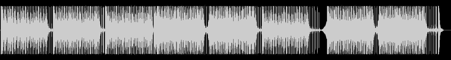 ファンキー、エネルギッシュ!リズムBGMの未再生の波形