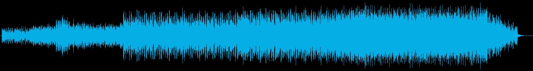 ポップでセンチメンタルなピアノテクノの再生済みの波形