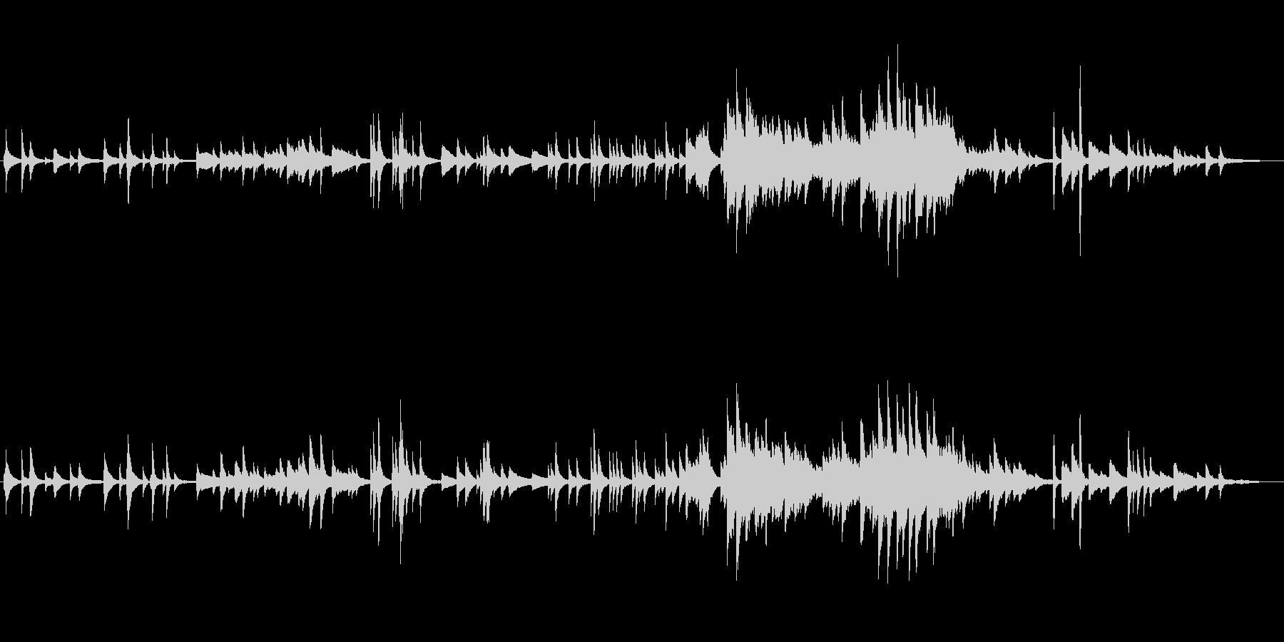 ピアノオンリー、スローテンポの切ない曲の未再生の波形
