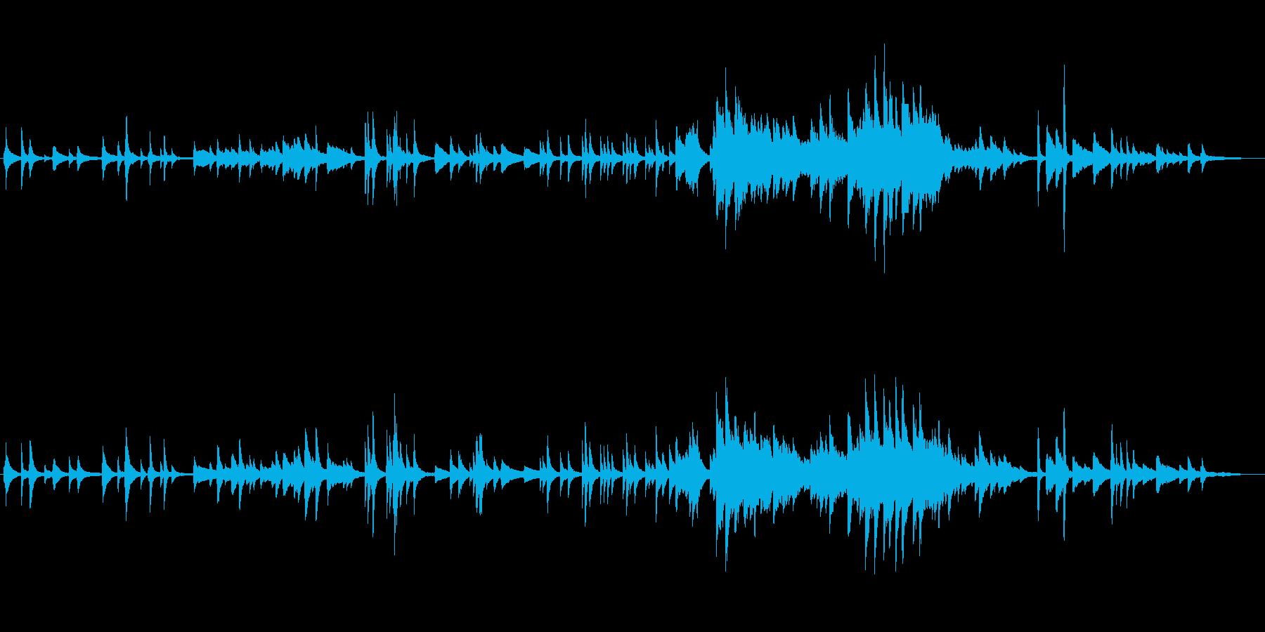 ピアノオンリー、スローテンポの切ない曲の再生済みの波形