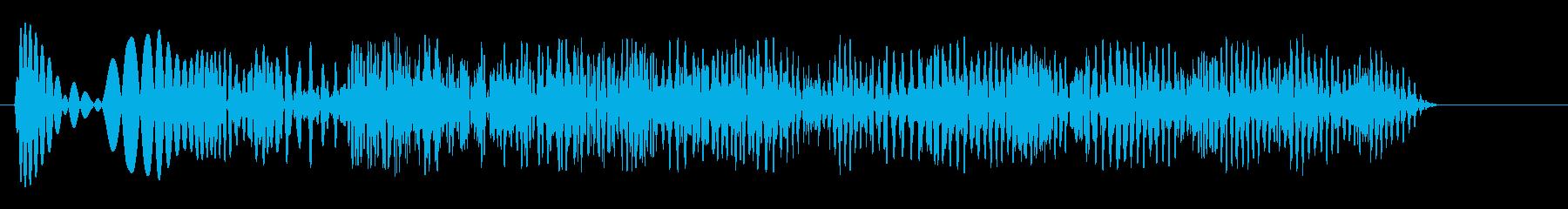 グワワワワワワーンとお腹の鳴る音の再生済みの波形