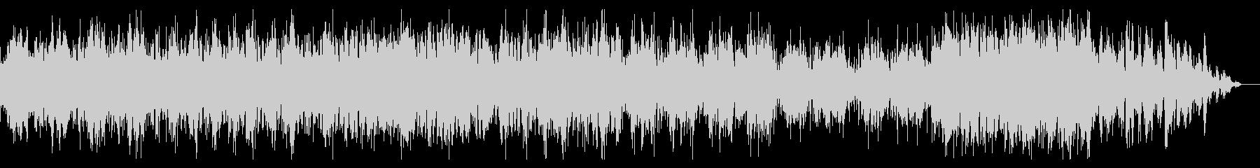 シンセティックなシネマティックBGMの未再生の波形