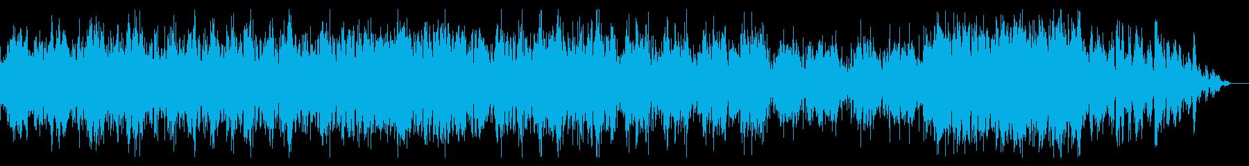 シンセティックなシネマティックBGMの再生済みの波形