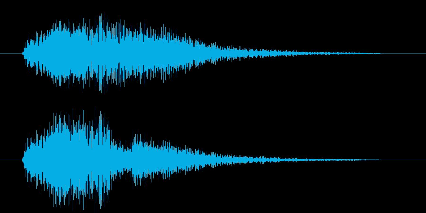 車のドリフトの音の再生済みの波形