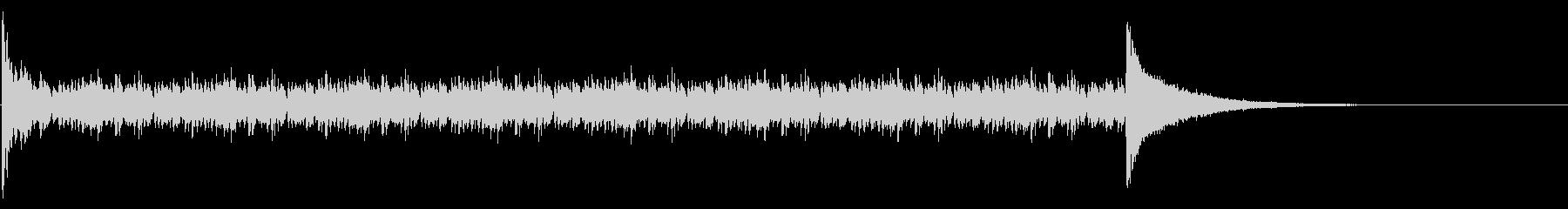ドラムロール_15秒の未再生の波形