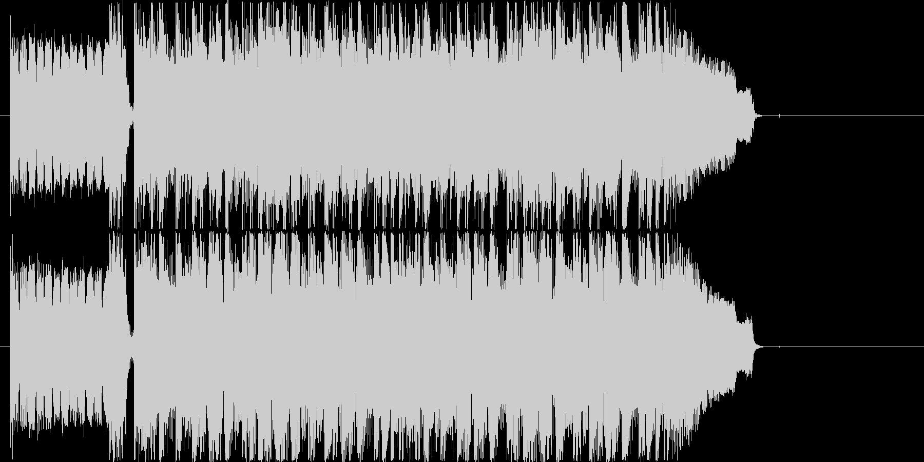 勢いのあるロックのカッコいいジングルの未再生の波形