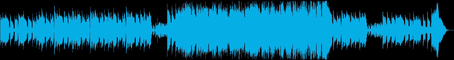 ゆったりしたテクノ風ジャズの再生済みの波形