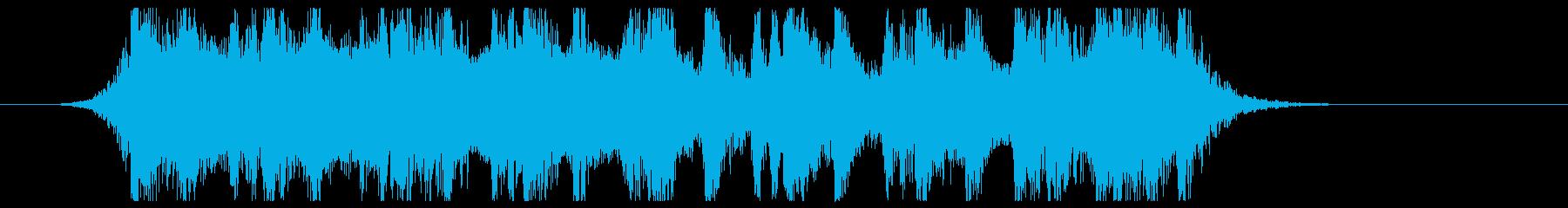 古代風ダークファンタジー風サウンドロゴの再生済みの波形