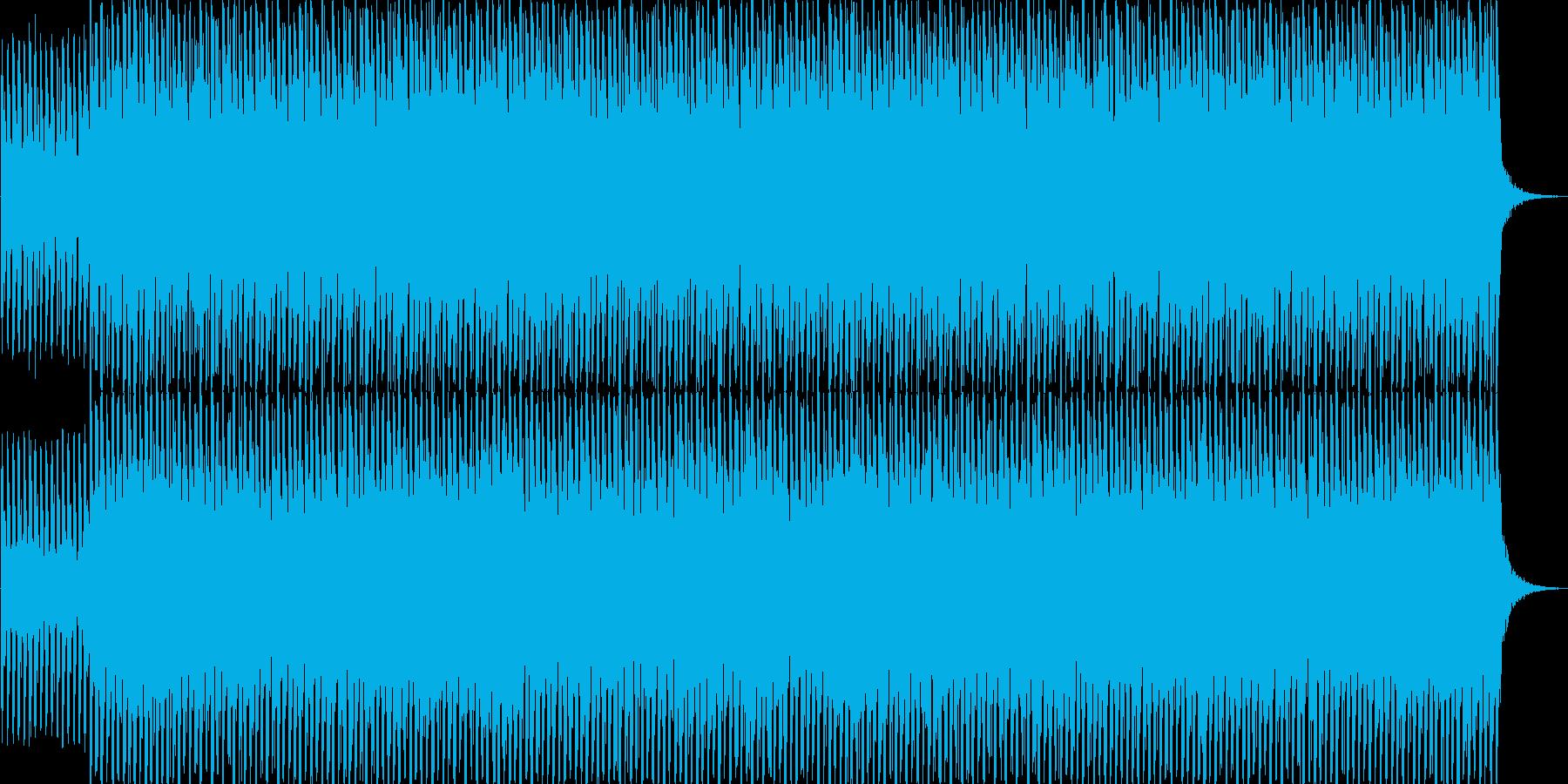 ミニマル系テクノBGMの再生済みの波形