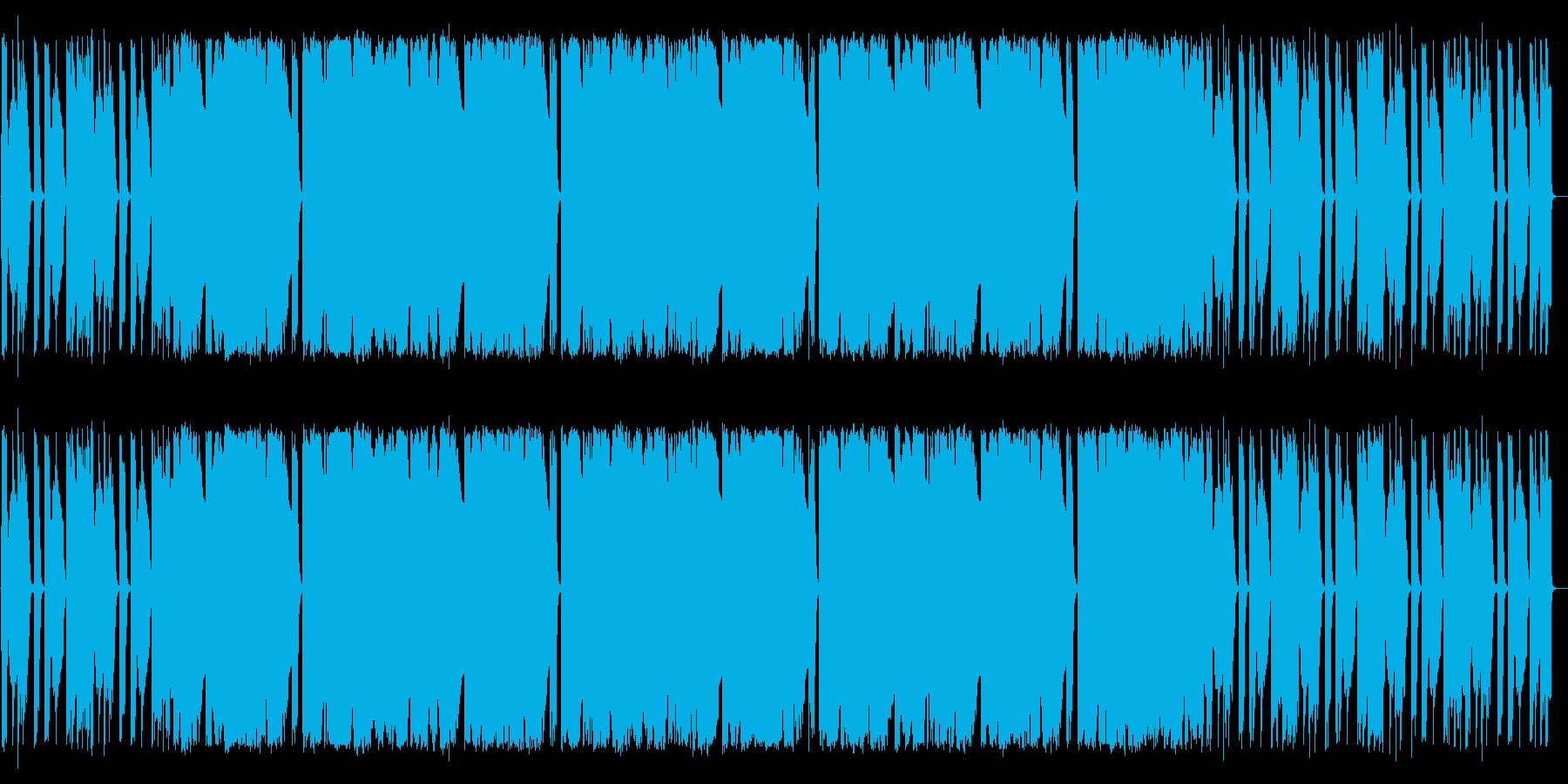 民謡っぽい感じの再生済みの波形