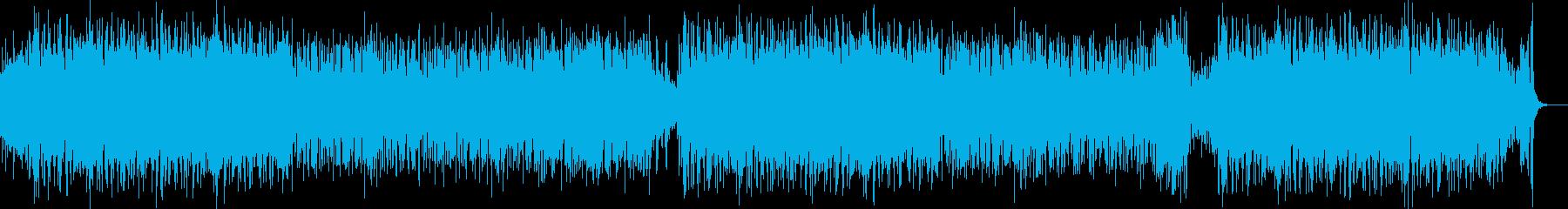 陽気なビッグバンドジャズ風のポップな曲の再生済みの波形