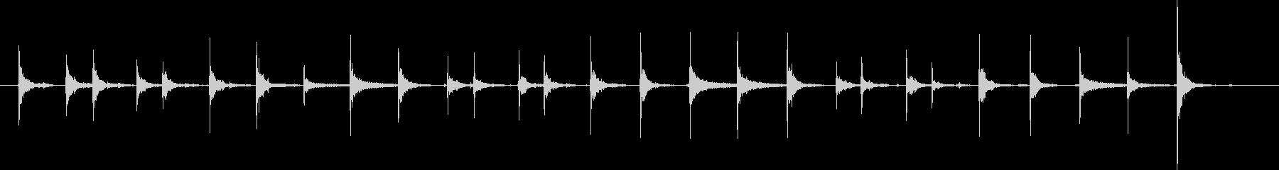 タンバリンスキン付き:リズム、タン...の未再生の波形